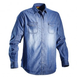 Camicia Blu XXL Shirt Denim...