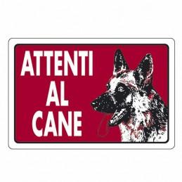 Cartello Attenti Al Cane...