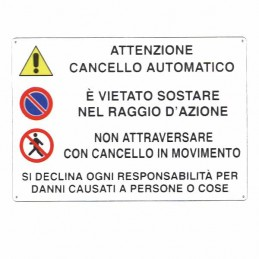 Cartello Cancello...