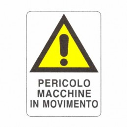 Cartello Movimento Macchine...