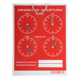 Cartello Orario 4 Orologi...