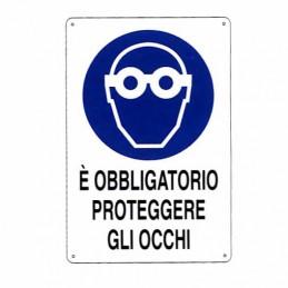 Cartello Protezione Occhi...