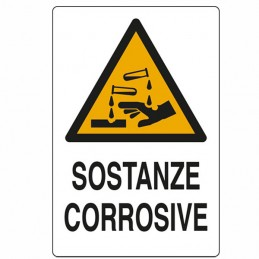 Cartello Sostanze Corrosive...