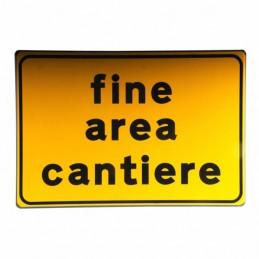 Cartello Stradale Fine Area...