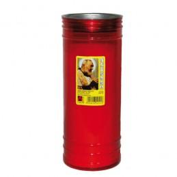 Cero Votivo Padre Pio Rosso...