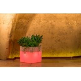 Vaso Luce Monacis Cube Pot...