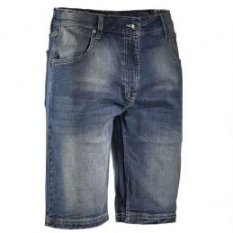 Bermuda Jeans Blu Washing...